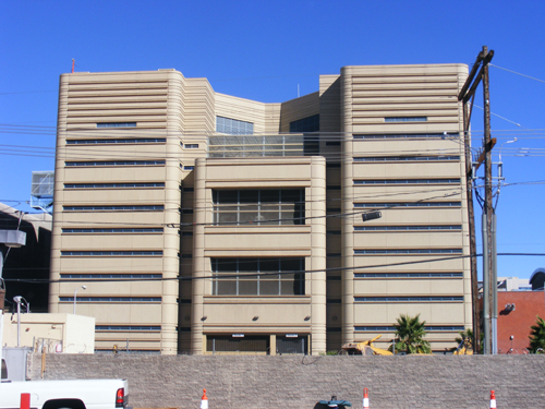 Clark County Jail in Las Vegas - Back View
