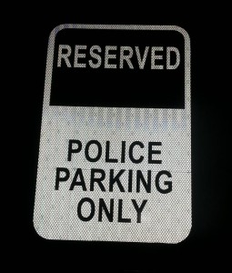 Clark County Jail Police Parking Only